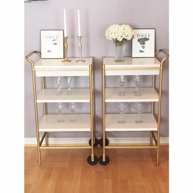 steal my look white gold bar carts � the black rebecca